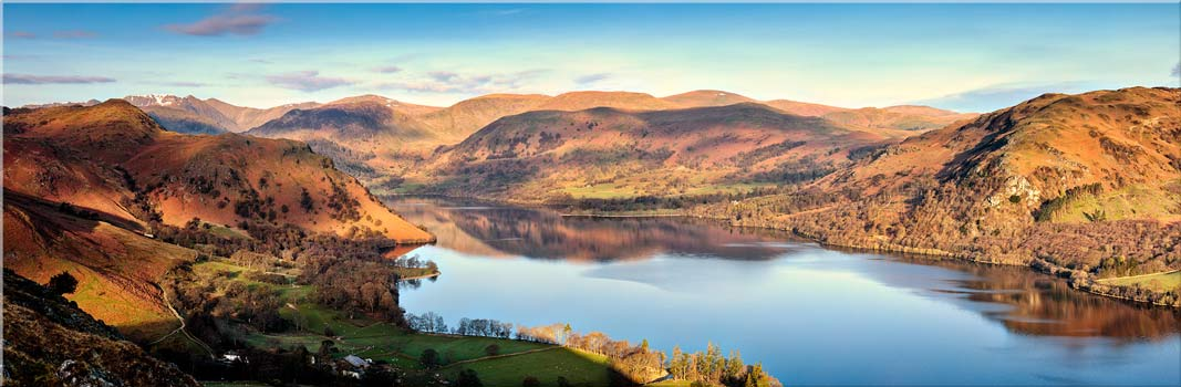 Morning Light on Ullswater - Canvas Prints Print