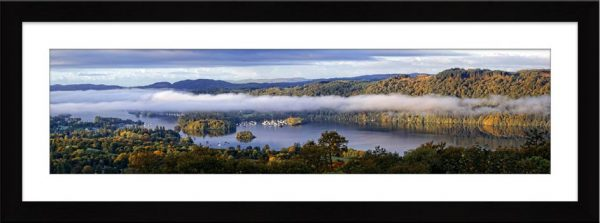 Bowness On Windermere Morning Mists - Framed Print with Mount