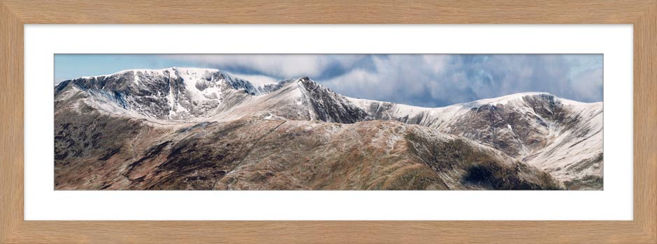 Helvellyn Mountains Panorama - Framed Print with Mount