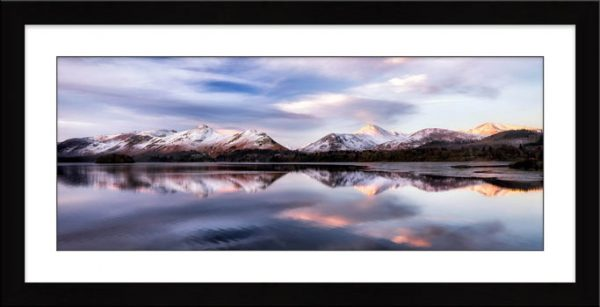 Colours of Dawn at Derwent Water - Framed Print with Mount