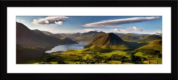Morning Sunshine on Crummock Water - Framed Print with Mount