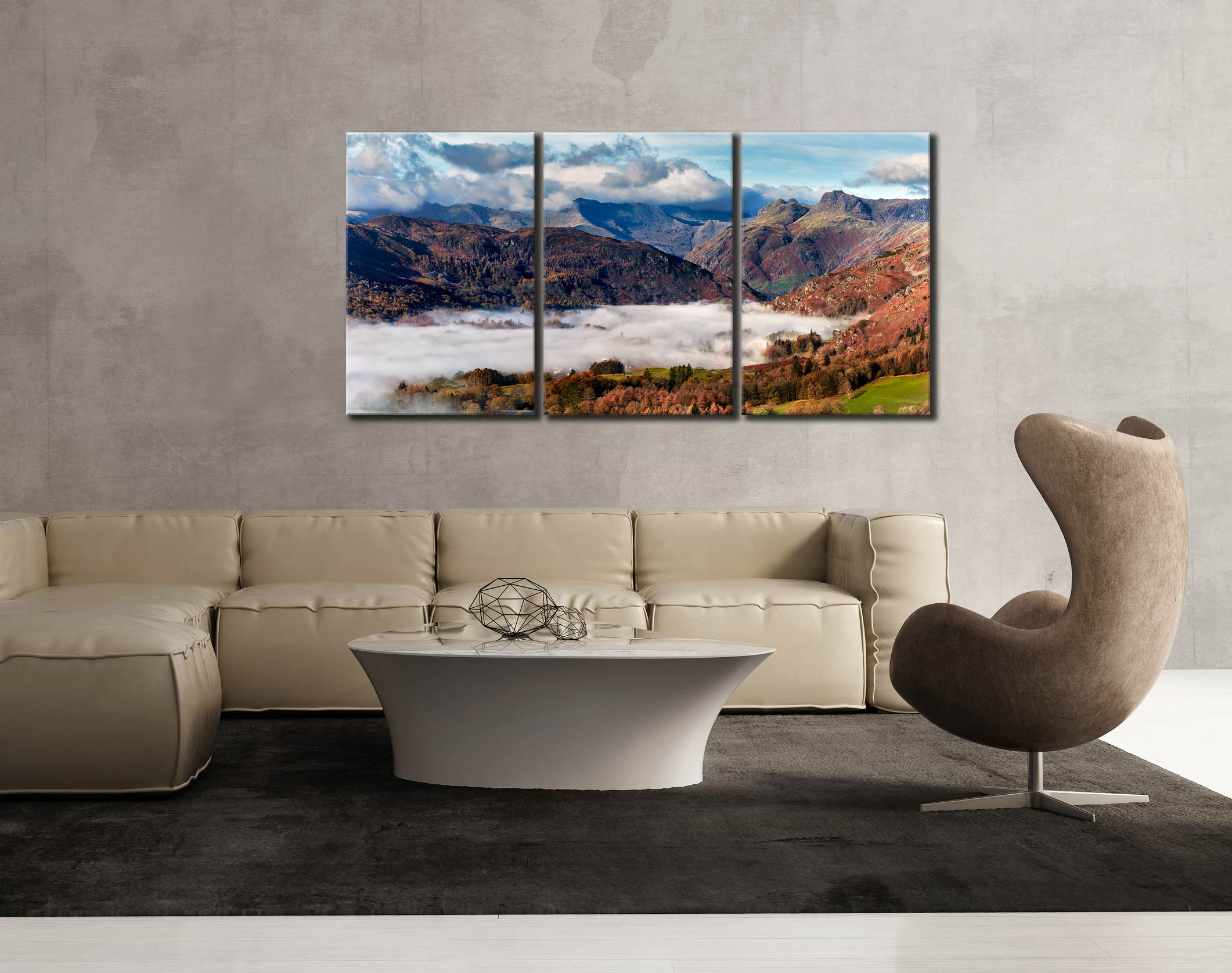 Sunbeams Over Martindale - 3 Panel Canvas on Wall