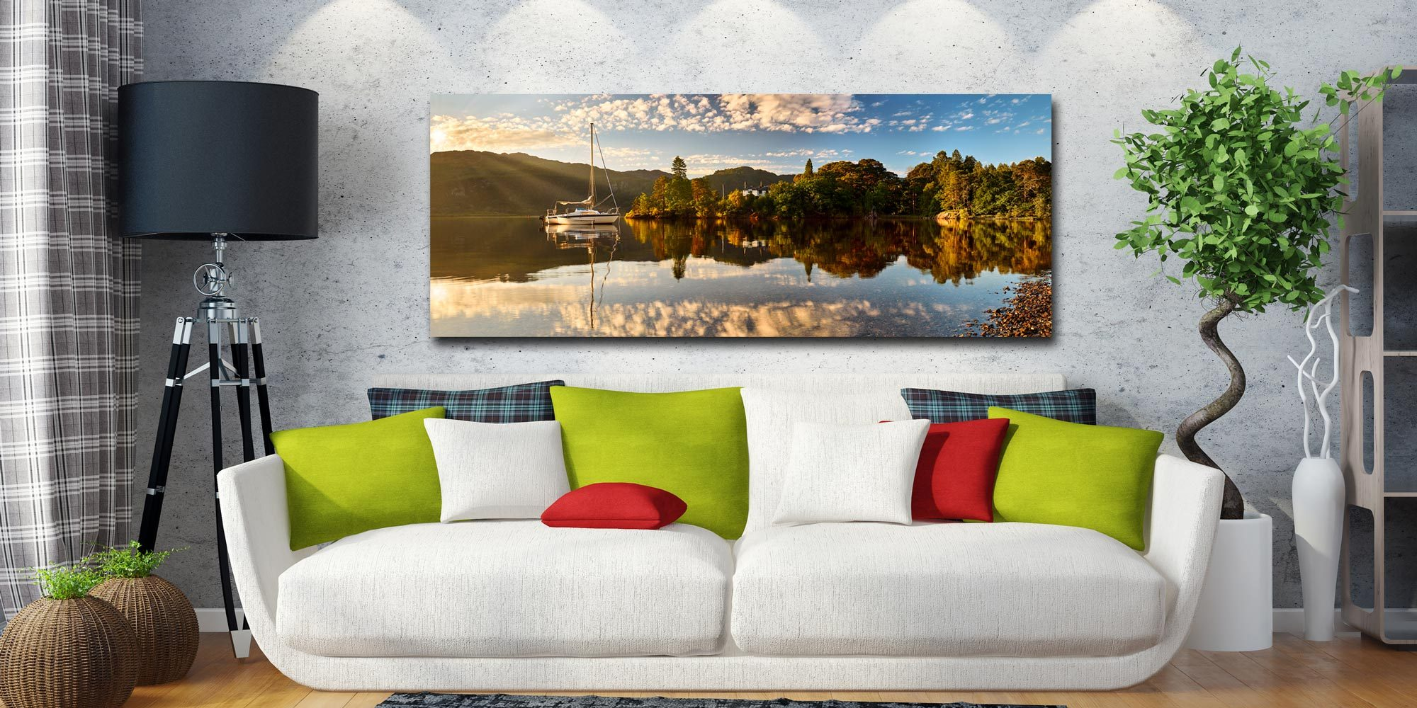Brandelhow Point Reflections - Canvas Print on Wall