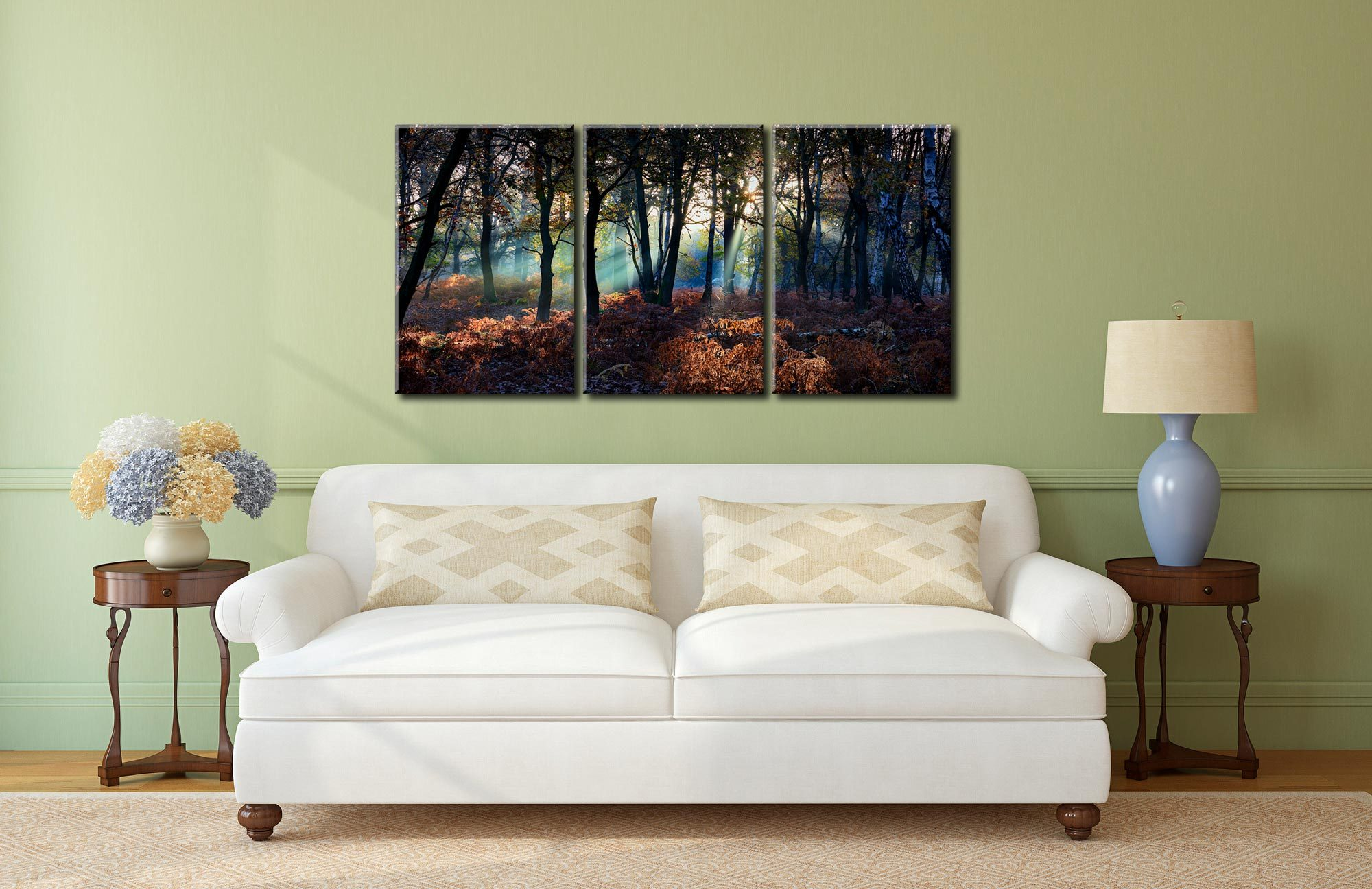 Sherwood Forest Beams - 3 Panel Canvas on Wall