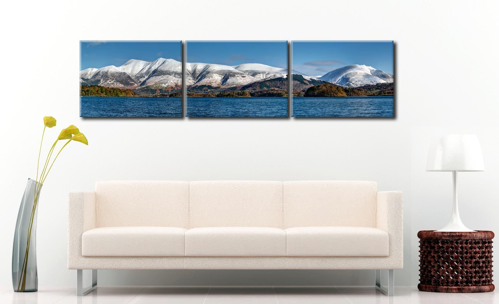 Skiddaw and Saddleback - 3 Panel Canvas on Wall