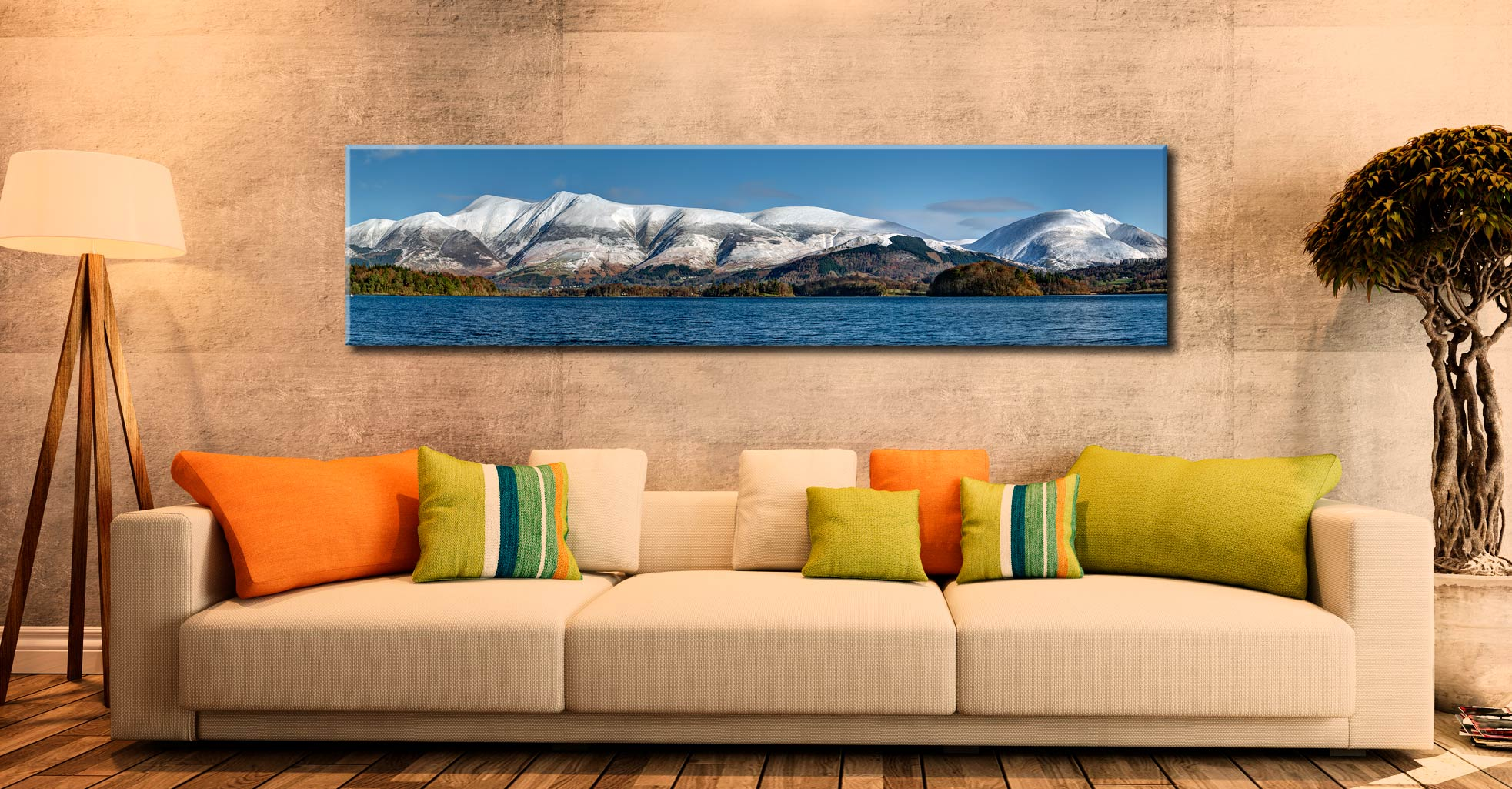 Skiddaw and Saddleback - Lake District Canvas on Wall