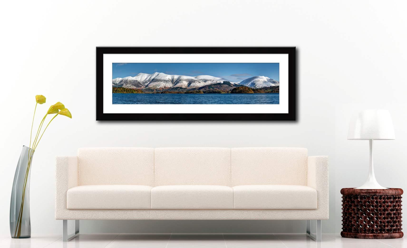Skiddaw and Saddleback - Framed Print with Mount on Wall