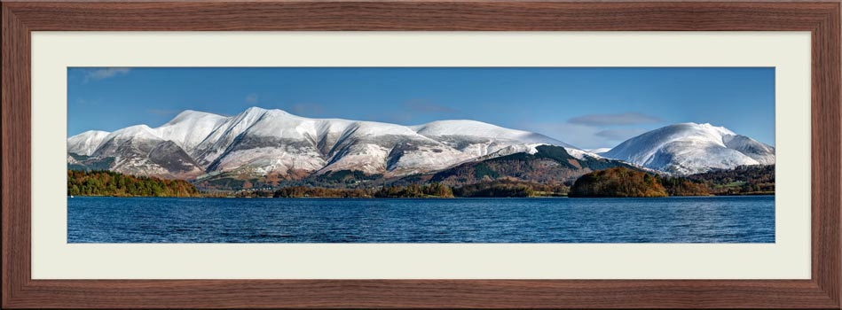 Skiddaw and Saddleback - Framed Print with Mount