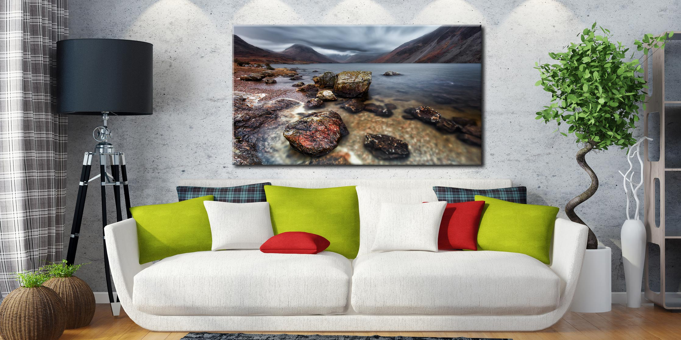 Wast Water Middle Earth - Canvas Print on Wall