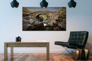 Grey Day Stockley Bridge - Canvas Print on Wall