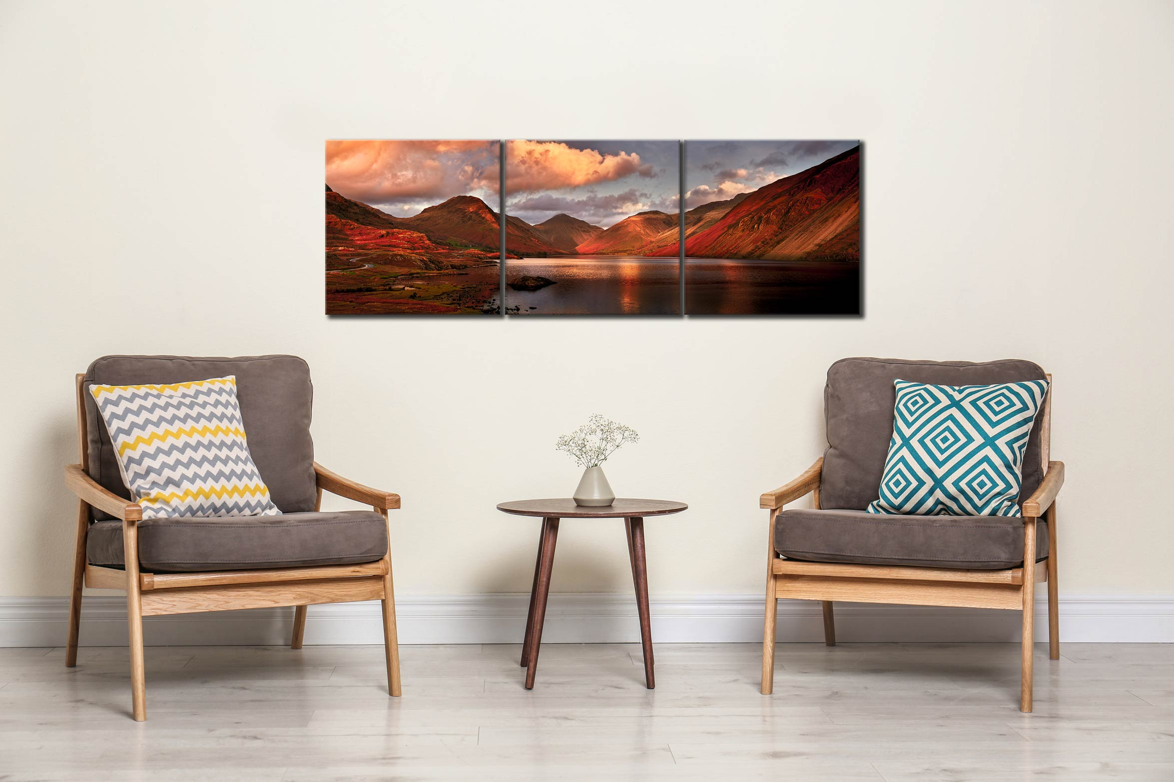 Dusk at Wast Water - 3 Panel Canvas on Wall