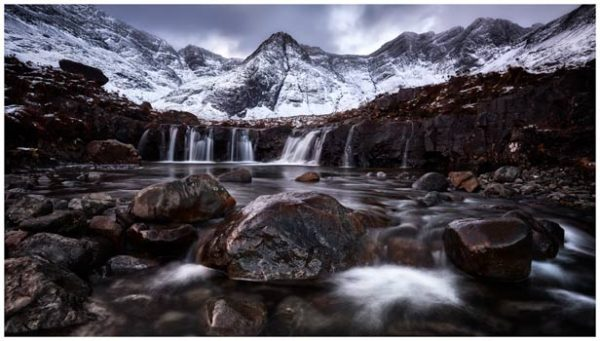 Fairy Pools Rocks Mountains Snow - Isle of Skye Print