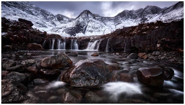 Fairy Pools Rocks Mountains Snow - Isle of Skye Print