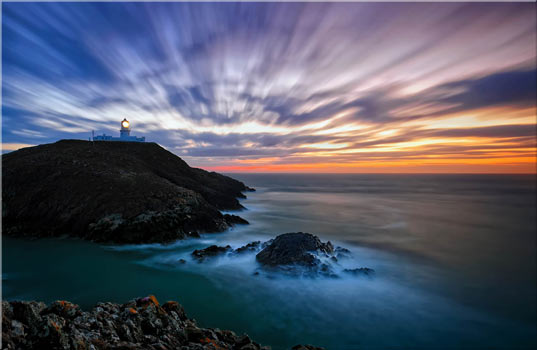 Strumble Head Lighthouse Seascape - Canvas Print