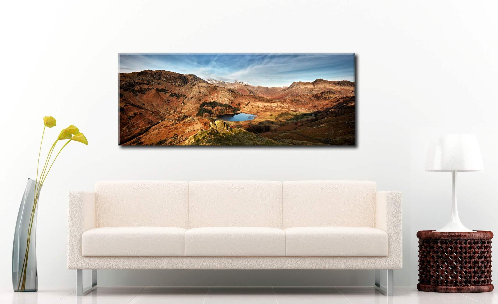 Blea Tarn From Lingmoor Fell - Canvas Print on Wall