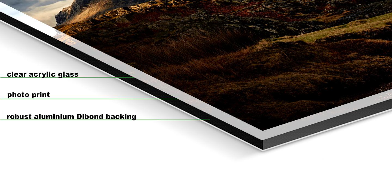 Glorious Lake District - Fuji print under glossy acrylic glass on Aluminium dibond backing