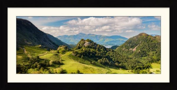 Castle Crag Summers Afternoon - Framed Print with Mount