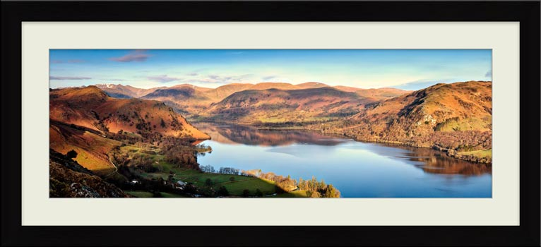 Morning Light on Ullswater - Framed Print with Mount