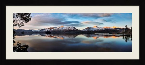 Cat Bells from Friars Crag - Framed Print with Mount