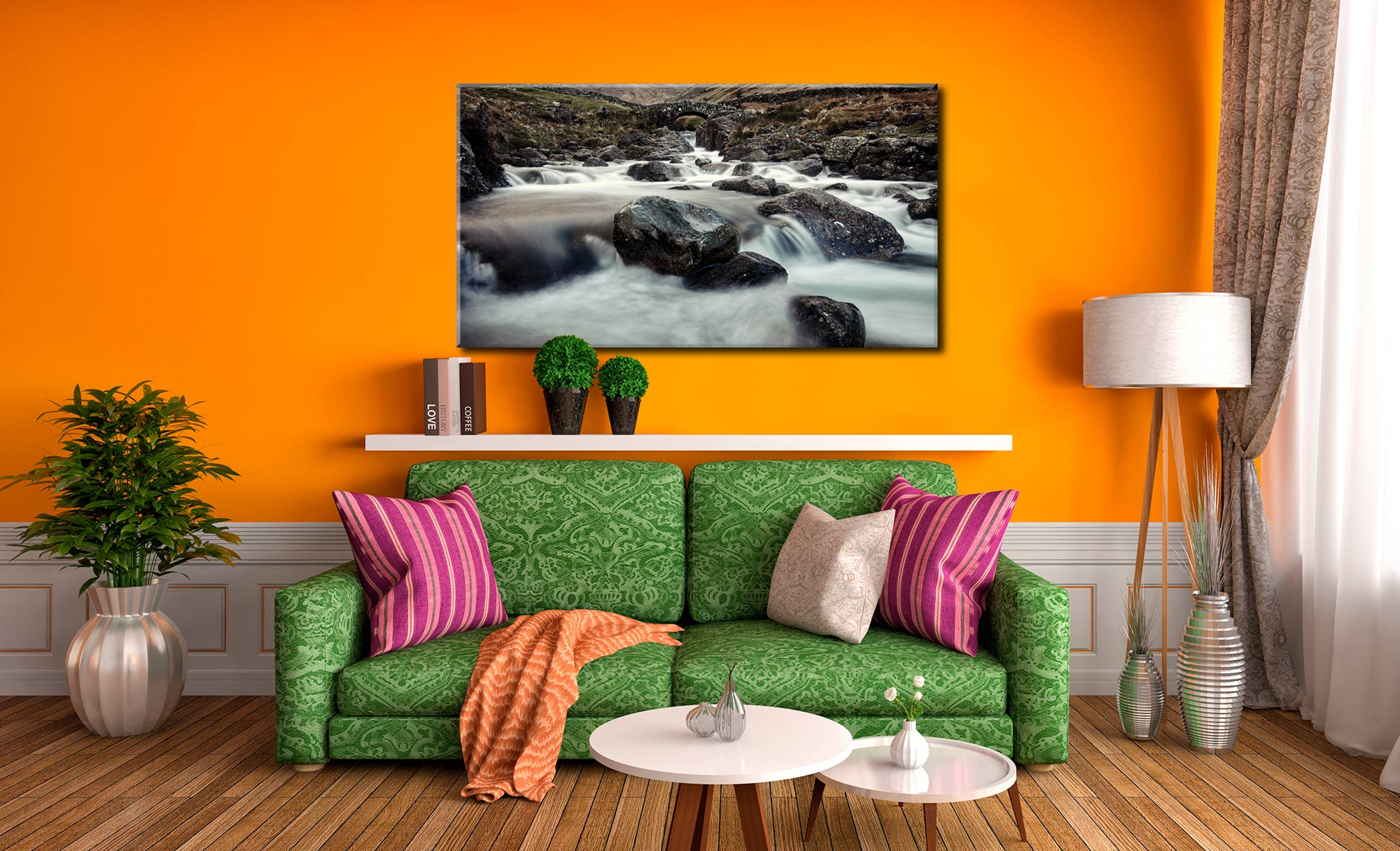 Grains Gill and Stockley Bridge - Canvas Print on Wall