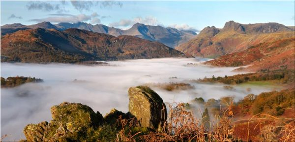 Langdale Valley Cloud Inversion - Canvas Print
