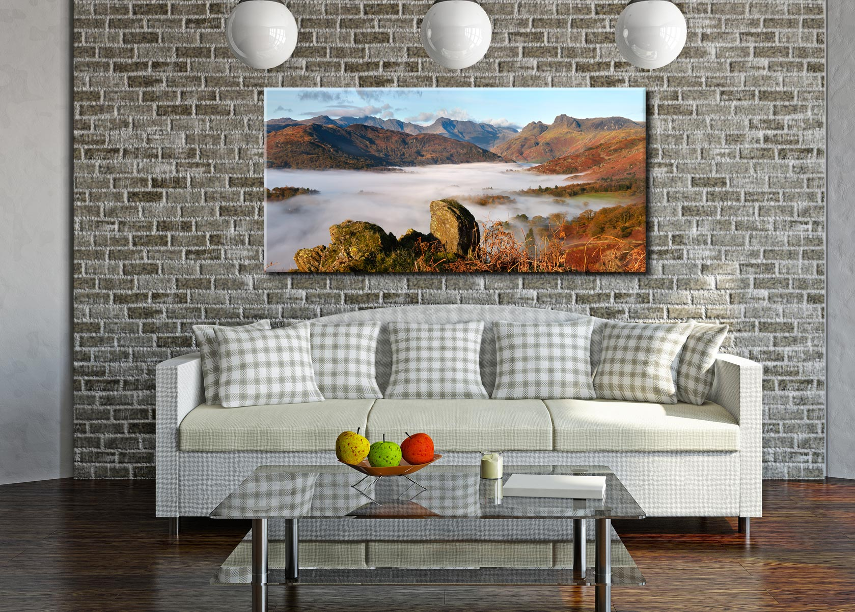 Langdale Valley Cloud Inversion - Canvas Print on Wall