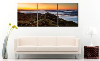 Lakes Under a Blanket - 3 Panel Canvas on Wall