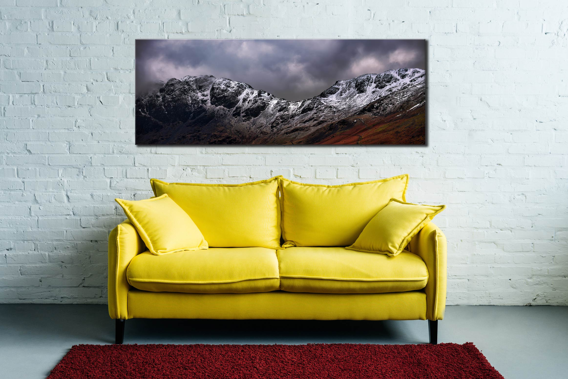Hay Stacks and Scarth Gap Winter - Canvas Print on Wall