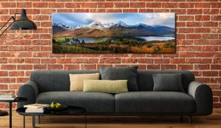 Buttermere Winter Panorama - Canvas Prints Print on Wall