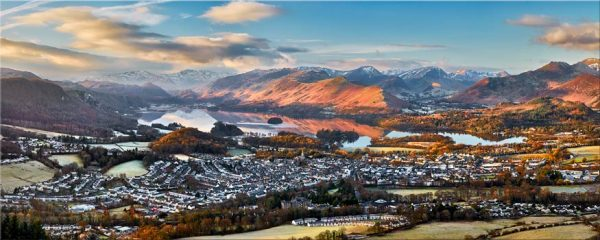Keswick in the Morning Sunshine - Canvas Print