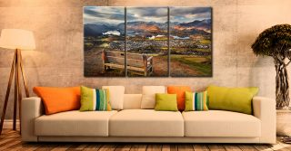 Best Seat in the House  - 3 Panel Canvas on Wall