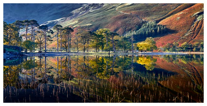 Buttermere Autumn Reflections - Lake District Print
