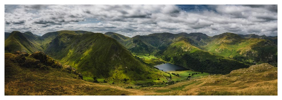 Satura Crag Panorama - Lake District Print