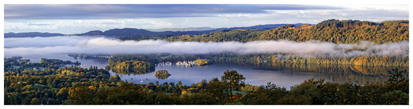 Bowness On Windermere Morning Mists - Lake District Print