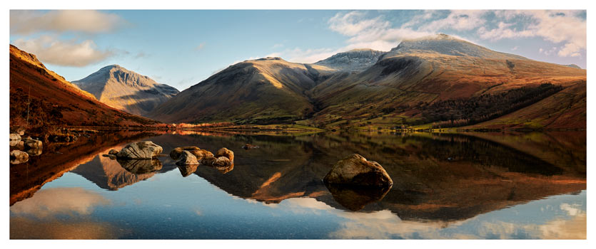 Morning Light on Scafell Pike - Lake District Print