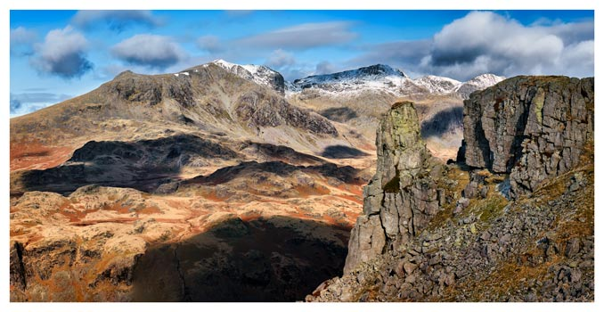 Eskdale Needle and Scafell Mountains - Lake District Print