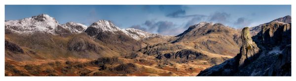 Eskdale Needle and Scafell Panorama - Lake District Print