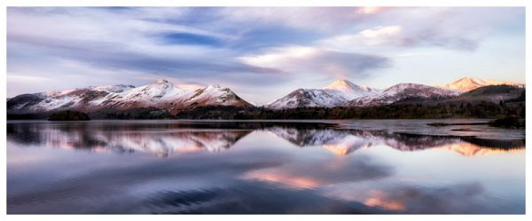 Colours of Dawn at Derwent Water - Lake District Poster