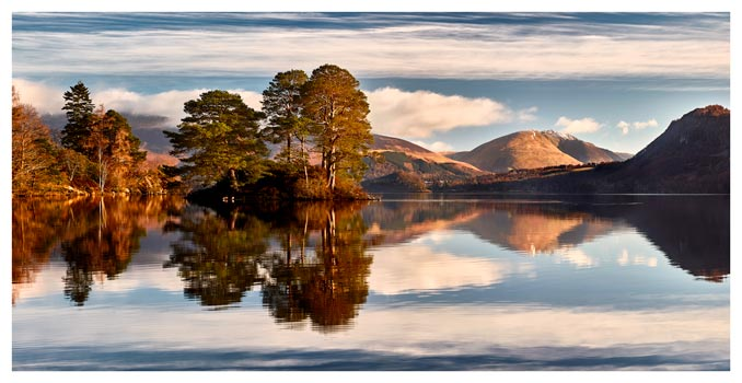 Otter Island in Derwent Water - Lake District Print
