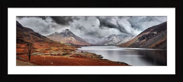 Dark Skies Over Wast Water - Framed Print with Mount