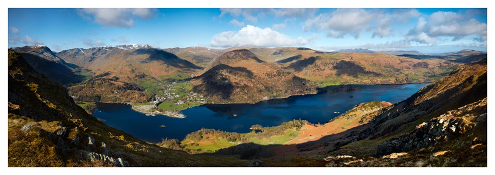 Ullswater and Glenridding Panorama - Lake District Print