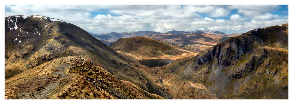 Grisedale Tarn From Deepdale Hause - Lake District Print