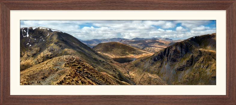 Grisedale Tarn From Deepdale Hause - Framed Print with Mount