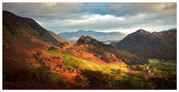 Castle Crag and Kings How - Lake District Print