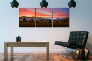 Dawn Skies Over Castlerigg  - 3 Panel Canvas on Wall