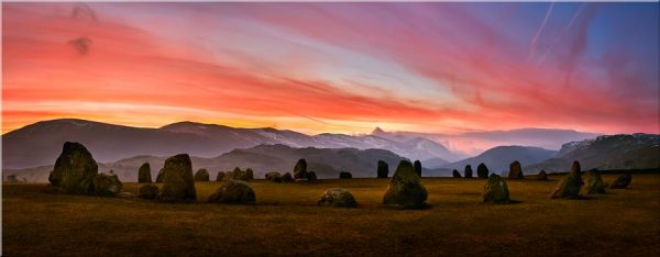 Dawn Skies Over Castlerigg - Canvas Print