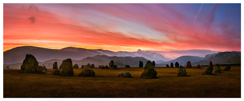 Dawn Skies Over Castlerigg - Lake District Print
