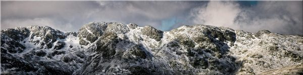 Crinkle Crags Winter Panorama - Canvas Print