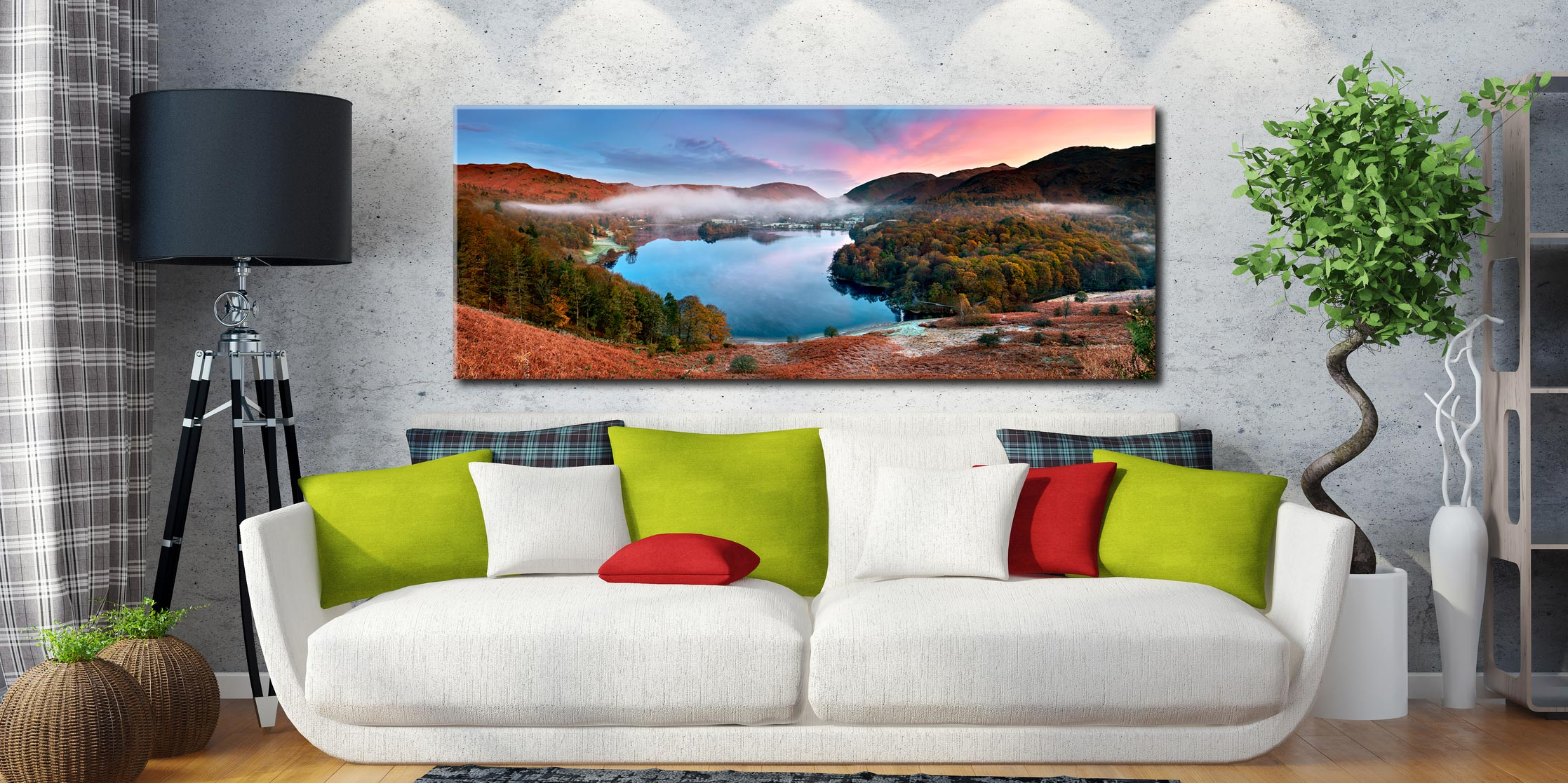 Dawn Colours of Grasmere - Canvas Print on Wall
