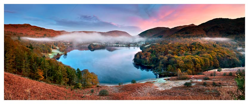 Dawn Colours of Grasmere - Lake District Poster